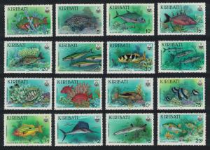 Kiribati Fishes 16v COMPLETE including Watermark variety SG#326-340+356