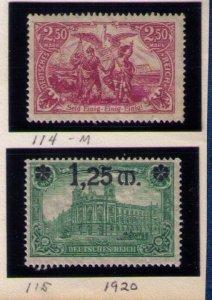 MNH Germany Sc 114-115,Spectacular Set,Xtra Fine