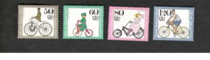 1985 Berlin Germany SC #9NB223-26 BICYCLES MNH stamps