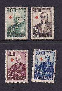 Finland    #B27-B30  MH  1938   Red Cross   Orn.  Bergenheim.  Nordenstam