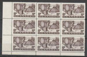 #301 Canada Mint OGNH Block of 9