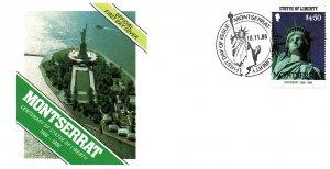 Montserrat 637 Statue of Liberty U/A FDC