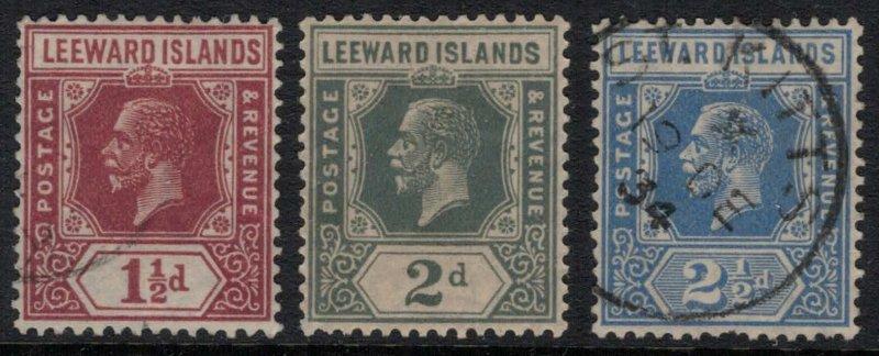 Leeward Islands #66,8,70*/u  CV $4.40