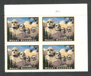 4268 Mount Rushmore Plate Block Mint/nh FREE SHIPPING