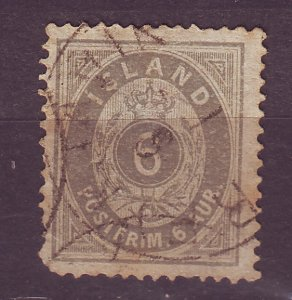 J25508 JLstamps 1876 iceland used #10 numeral avg condition