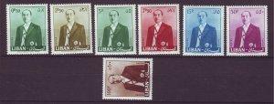 J24028 JLstamps 1960 lebanon set mh #344-50 president