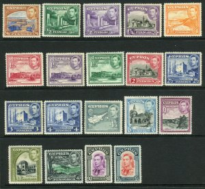CYPRUS-1938-51  A mounted mint set to £1 Sg 151-163