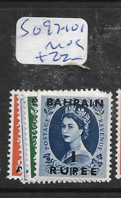 BAHRAIN (P1905BB)  QEII ON  GREAT BRITAIN SG 97-101  MOG