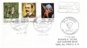 Argentina Antarctic Cachet and/or Cancel, #117