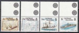Cayman Islands, Sc 614-617, MNH, 1989, Ships