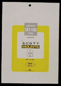Scott/Prinz Pre-Cut Souvenir Sheets Small Panes Stamp Mounts 187x160 #1016 Black