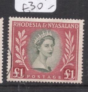 Rhodesia & Nyasaland SG 15 VFU (3dlz)