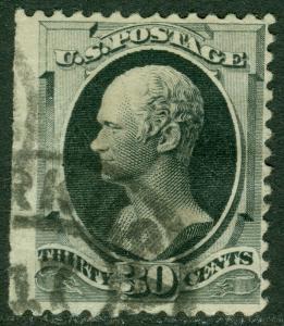 EDW1949SELL : USA 1870 Scott #154 Used cds cancel. Small thin. Catalog $275.00.