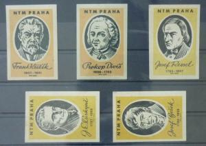 Match Box Labels ! industry science scientist famous people czechoslovakia GN27
