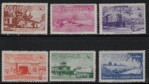 LIBERIA, C71-C76, SET(6), HINGED, 1953, ROAD BUILDING