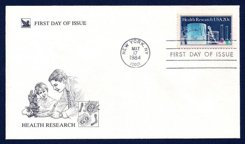 UNITED STATES FDC 20¢ Health Research 1984 Readers Digest