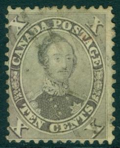 EDW1949SELL : CANADA 1859 Scott #17a Violet. Used. Nice Sound PSAG Cert Cat $160