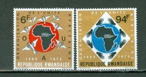 RWANDA 1973 MAP #532-533 SET MNH...$3.00