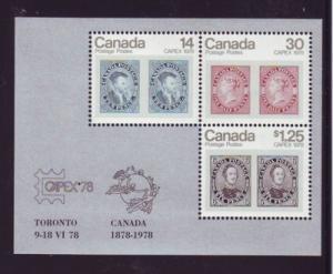 Canada Sc756a 1978 Capex  stamp sheet