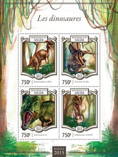Niger MNH S/S Dinosaurs #2 2015