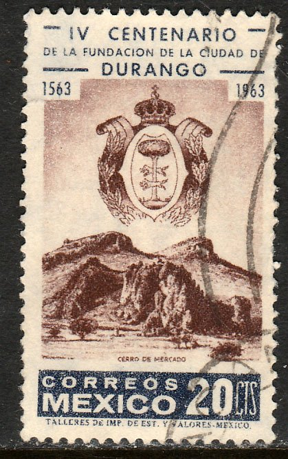 MEXICO 935, 400th Anniversary of the City of Durango USED. VF. (1102)