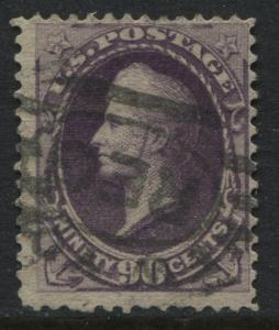 USA 1888 90 cent Perry purple used (JD)