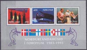 1993 Faroe Islands 243-245/B6 Muzica 4,50 €