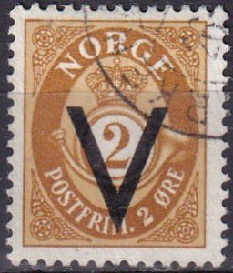 Norway #221 F-VF Used  CV $10.00 (V4838)
