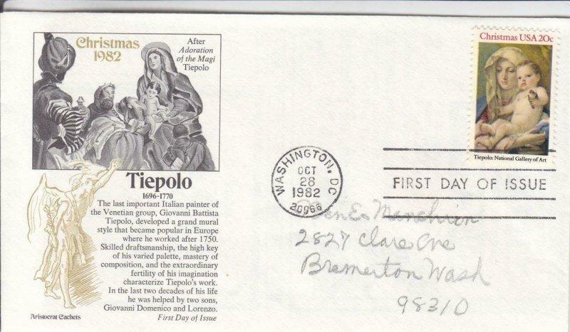 1982, Tiepolo, Aristocrat Cachet, FDC (E7512)