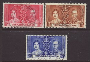 1937 Leeward Is Coronation Set Fine Used SG92/94.