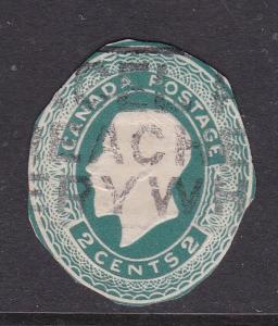 Canada George V 2c Postal Stationary Cutout VGC