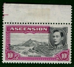 ASCENSION KGVI Stamp SG.47b 10s p13 Superb UM MNH Marginal 1944 Cat £48+ BBLUE30