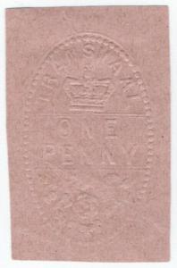 (I.B) Transvaal Revenue : Duty Stamp 1d (embossed)