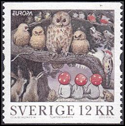 Sweden # 2630b used ~ 12k Owls, Birds, Rabbits