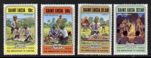 St Lucia 587-90 MNH Scouting Year
