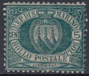 SAN MARINO - Sassone n.27 cv 145$ - SUPER CENTERED MNH**