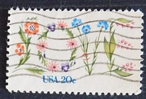 USA, Flowers, (№1553-Т)
