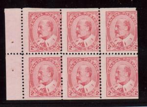 Canada #90b NH Mint Booklet Pane Of Six With Nick At UR Corner