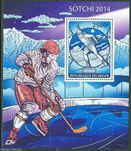 NIGER 2014 SOCHI WINTER OLYMPICS  SOUVENIR SHEET MINT NH