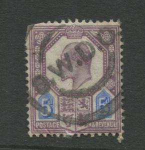Great Britain  #134  Used 1902 Single 5p Stamp