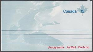 CANADA 15c aerogramme - Bird - Goose - unused..............................54136