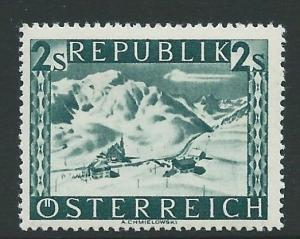 AUSTRIA SG953A 1946 2s DEEP BLUISH-GREEN MTD MINT