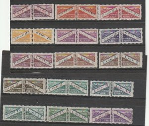 Q16-Q30 San Marino Mint OGLH Postage Due