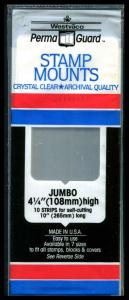 Perma Guard Stamp Mounts Clear Crystal: Jumbo 4½ High 10 Strips New Sealed