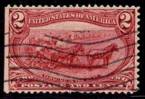 US Stamp #286 2c Trans-Mississippi USED SCV $2.75