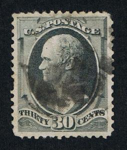 VERY AFFORDABLE GENUINE SCOTT #165 FINE USED 1873 GRAY BLACK 30¢ CBNC ISSUE