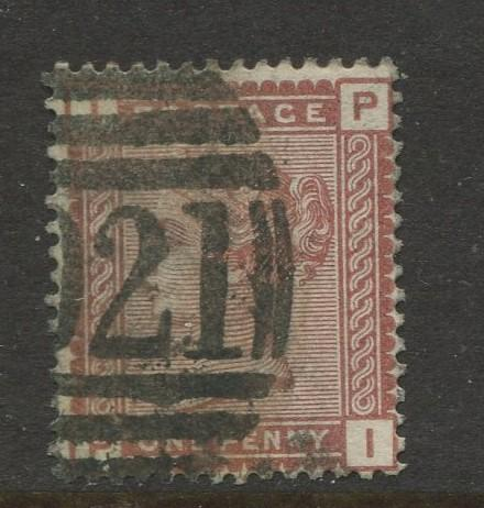 Great Britain  #79  Used 1880 Single 1p Stamp