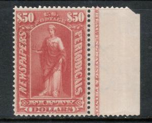 USA #PR124 Very Fine Never Hinged Margin Imprint Copy