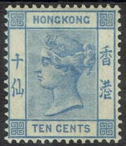 HONG KONG 1900 QV 10C