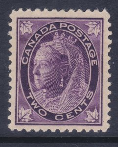 Canada 68 Mint OG 1897 2c Purple Queen Victoria F-VF Scv $125.